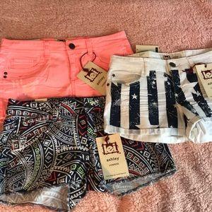 l.e.i shorts . 3 Sold together